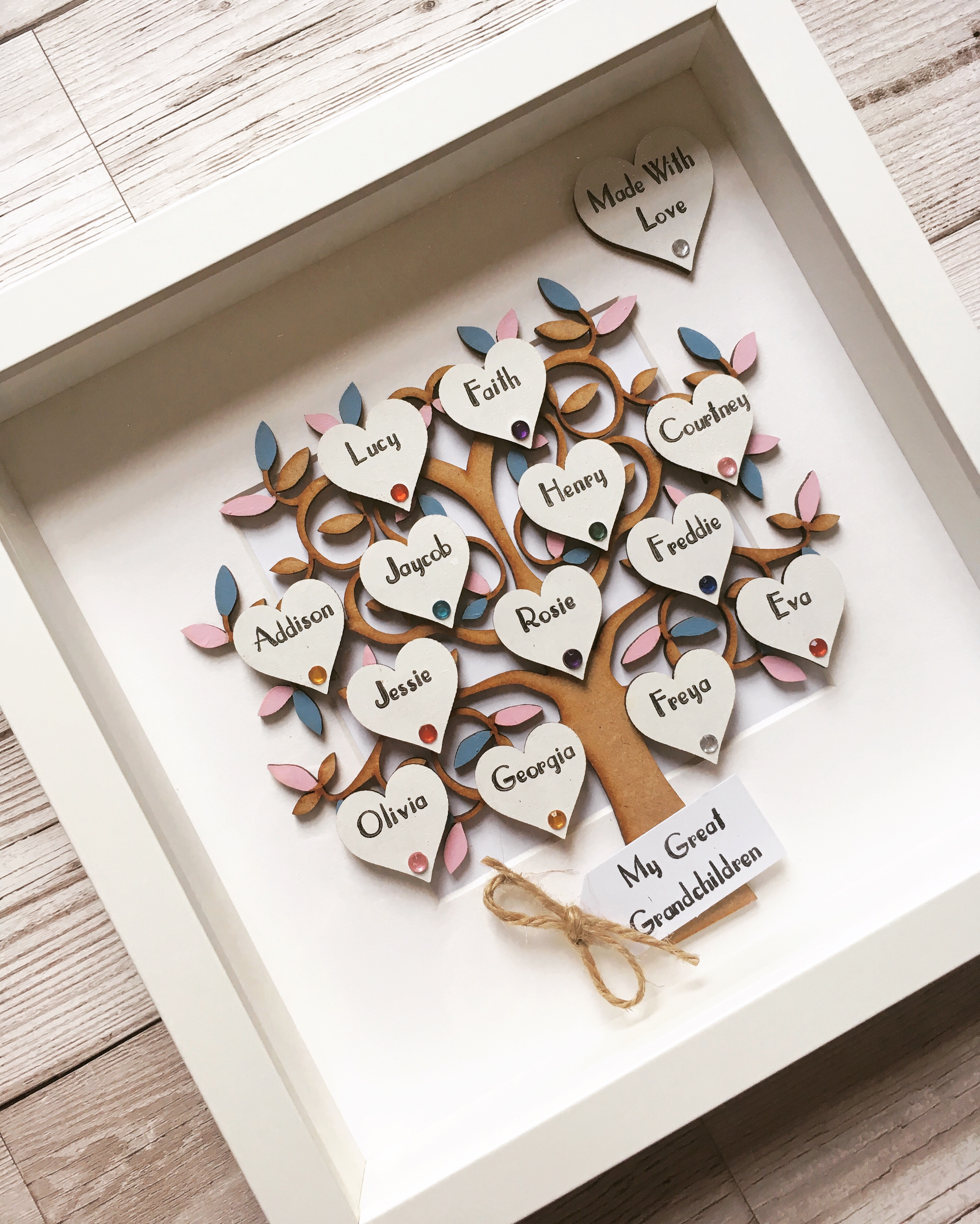 Large Family Tree Frame 10 15 Names Littlecraftedtreasurescouk